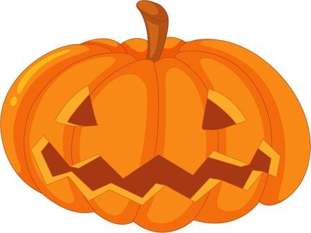 gourd: illustration of carved pumpkin on white