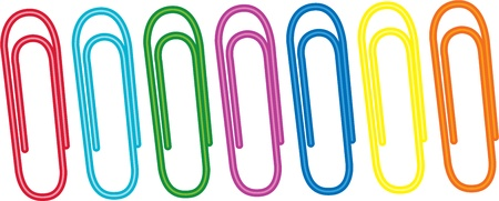 illustration of paper clips on white