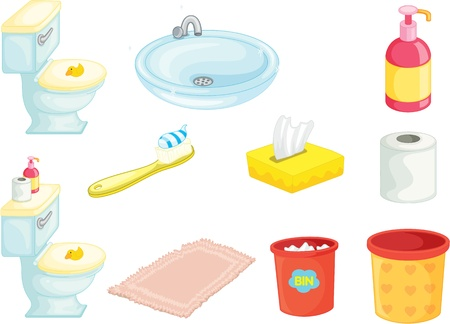 illustration of various objects on white Vector