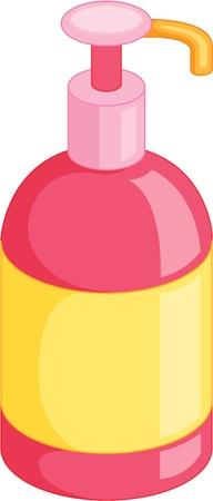 ilustración de la botella de spray sobre fondo blanco