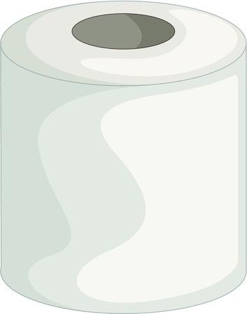 papel higienico: ilustración de papel higiénico sobre fondo blanco Vectores