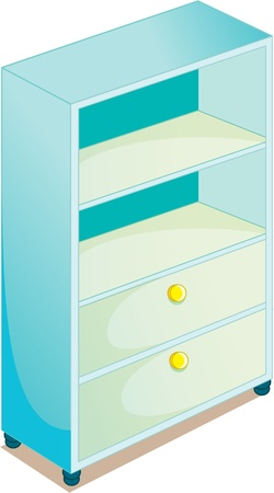 drawers: illustration of cupboard on white Illustration