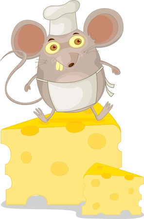 Illustration of  a cartoon mouse on white Stock Vector - 13122254