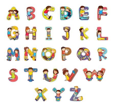 kids abc: Conjunto de caracteres del alfabeto cabrito