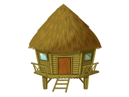 bungalows: Illustration of a wooden hut