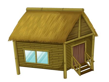 방갈로: 나무 오두막의 그림 일러스트