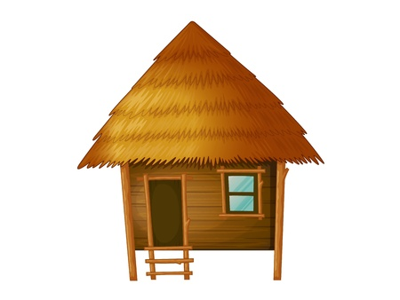 Illustration of a wooden hut Vector