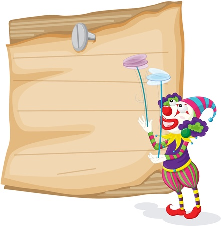 Clowns illustration blank sign Vector