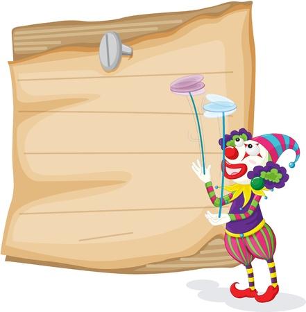 Clowns illustration blank sign Vector