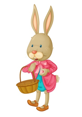 Illustration of an isolated bunny Vector