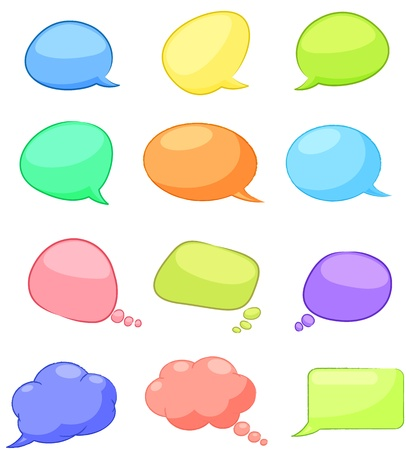 chat bubble: A set of speech bubbles Illustration