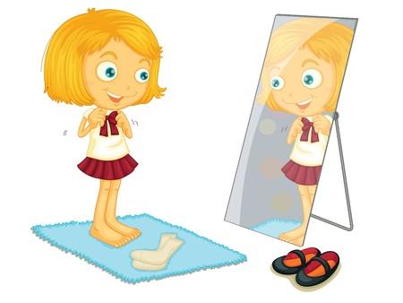 Illustration pour enfants sur un fond blanc Vecteurs