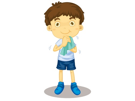 hygeine: Child illustration on a white background