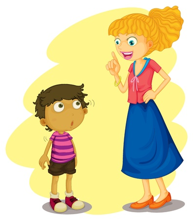 illustration of mother and son Vector