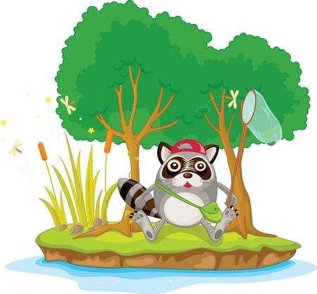 Illustration of  a cartoon animal on white Vector