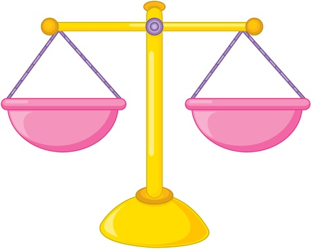 libra: illustration of measuring balance on white Illustration