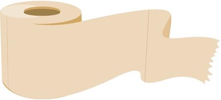 toilet roll: illustration of tissue paper roll on white Illustration