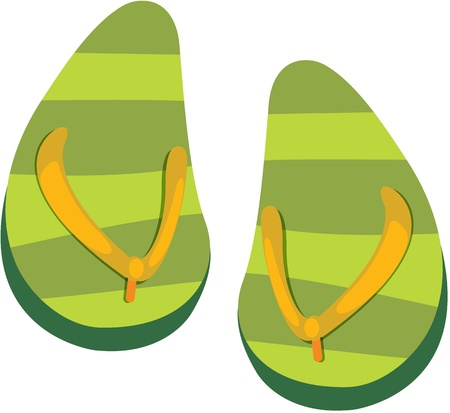 footware: illustration of slippers on white