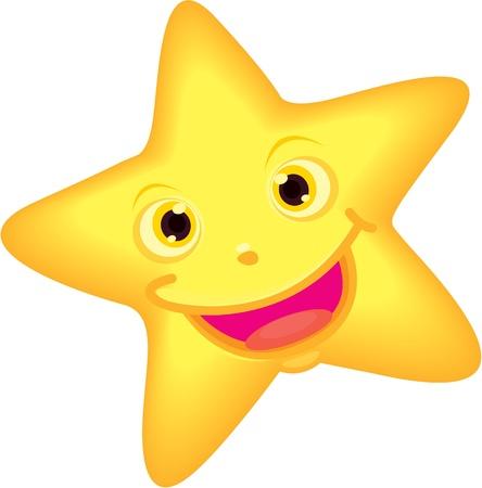 single object: illustration of star on white Illustration