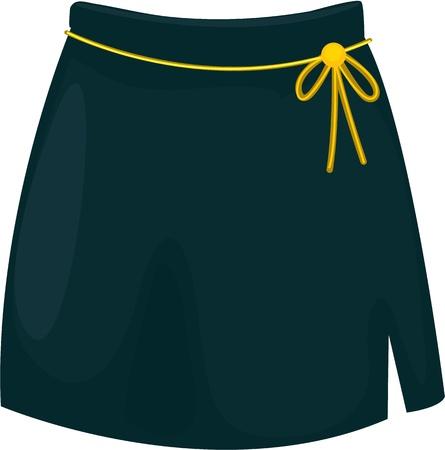 falda: ilustraci�n de la ropa de la muchacha en blanco