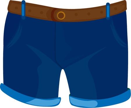 shorts: illustration of apparel on white