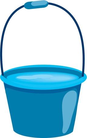 seau d eau: illustration de seau sur blanc