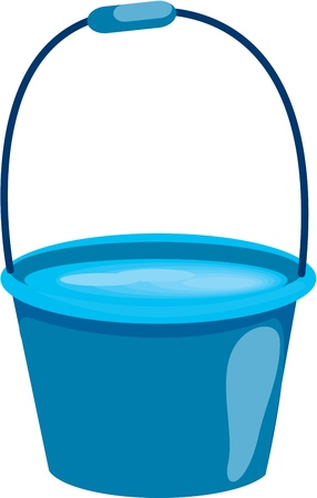 illustration of bucket on white