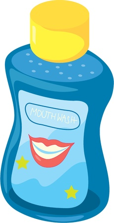 illustration of mouth wash on white