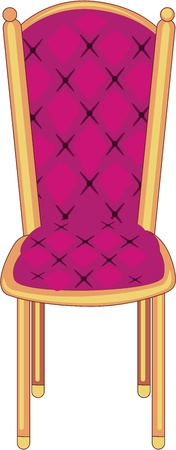 drawing room: illustration of chair on white