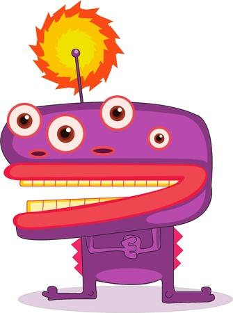 Illustration of  a cartoon character on white Illustration