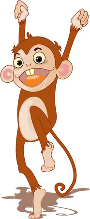 Illustration of  a cartoon monkey on white Stock Vector - 13131548