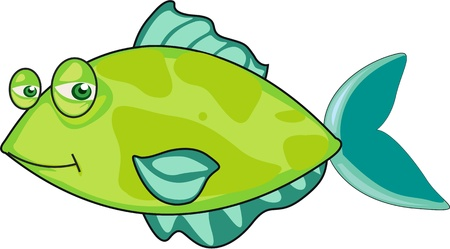 Illustration of  a cartoon fish on white Stock Vector - 13131470