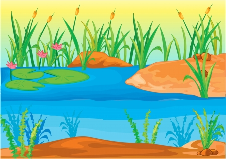 Illustration of  a landscape Stock Vector - 13131718