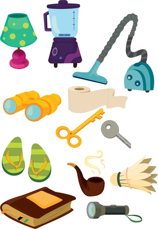 illustration of various objects on white Stock Vector - 13131511