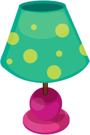 illustratie van de tafellamp op wit Vector Illustratie
