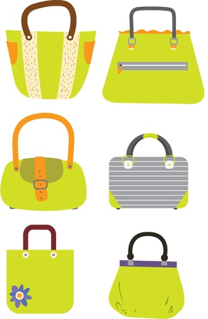plastic material: illustration of a bags on white