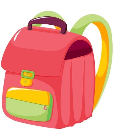 illustration of  bag on white Vector