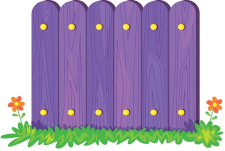 illustration of fence on white Stock Vector - 13131564