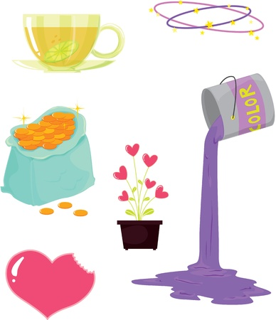 illustration of various objects on white Stock Vector - 13131514