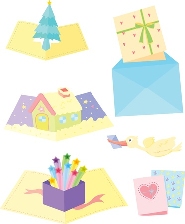 illustration of various objects on white Stock Vector - 13131478
