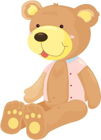 illustration of teddy bear on white Vector