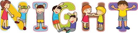 illustration of alphabets on white Stock Illustration - 13158382