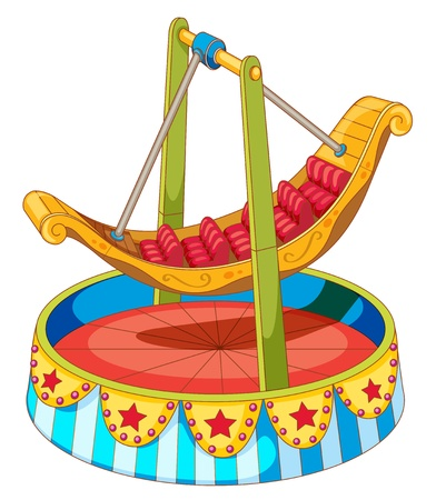 illustration of a carnival ride Vector