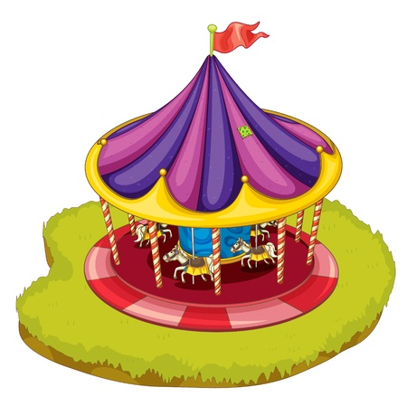 amusement: illustration of a carnival ride