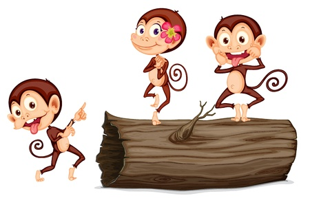 tease: Illustration of cartoon monkey Illustration