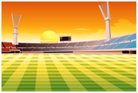 mowing the grass: Illustration of an empty stadium