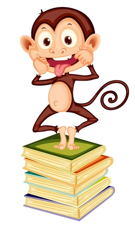 mischievous: Illustration of cartoon monkey Illustration