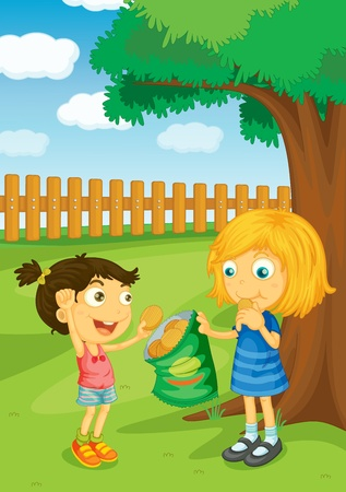 mates: Illustration of kids in the park