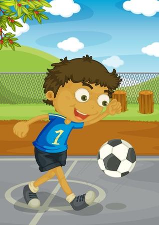 ball park: Illustration of kids in the park