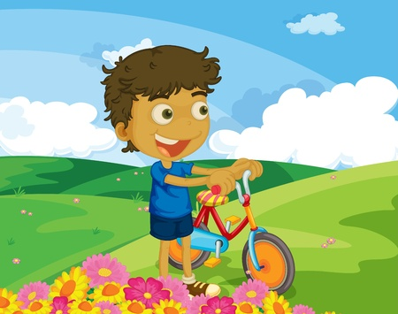 Illustration of kids in the park Vector